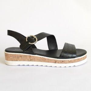Marc Fisher Platform Gilma Croc Cork Sandal 8.5